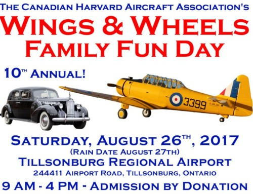Wings & Wheels Family Fun Day, Saturday, August 26, 2017